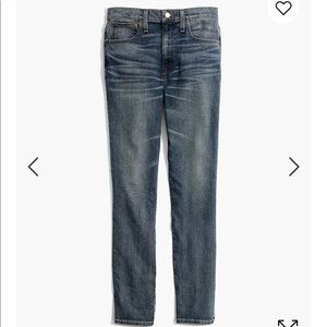 Madewell high rise boy jean in Frisco wash (tall)